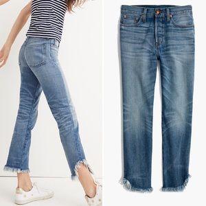 Madewell Rivet & Thread Raw Step Hem Jeans
